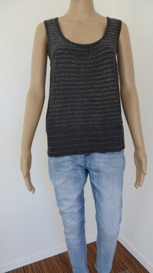 Shirt in Dunkelgrau-Silber