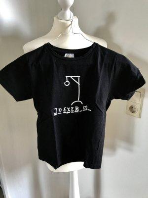 Camiseta estampada negro-blanco