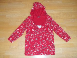 Hooded Shirt red-white