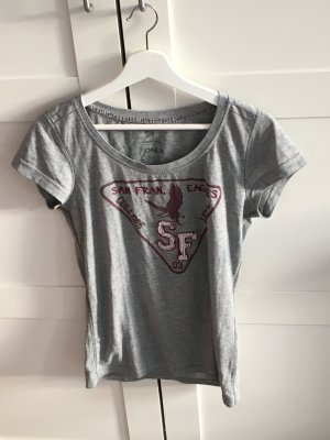 Shirt in grau mit Print
