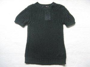 Shirt in Grobstrick Gr. S schwarz/grün zara neu