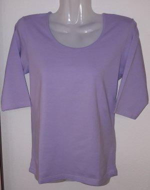Top à col bateau violet tissu mixte