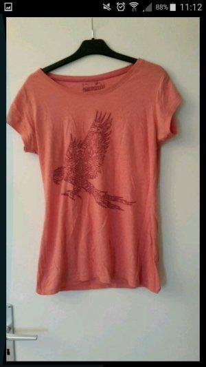 shirt in Rose mit Aufdruck