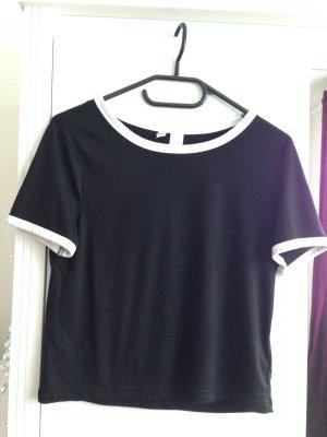 Shirt in schwarz von H&M