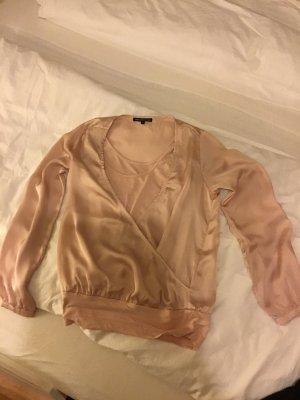 Shirt in Seideoptik, rosa, Gr. S