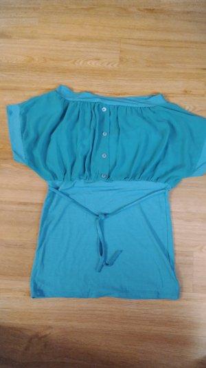 Shirt in Türkis mit Knöpfen