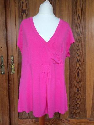 Shirt in Wickel Optik, pink, Jersey