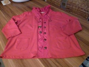 Shirt Jacke Langarm Volantkragen auffällige Knöpfe rot Gr.44 von Laura Kent