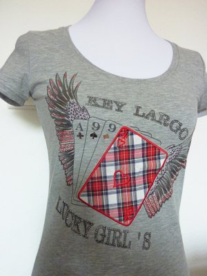 Shirt Key Largo Lucky Girl Kartenspiel S