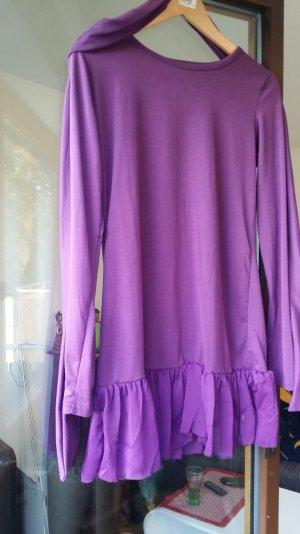 Shirt Kleid Lila Größe 36