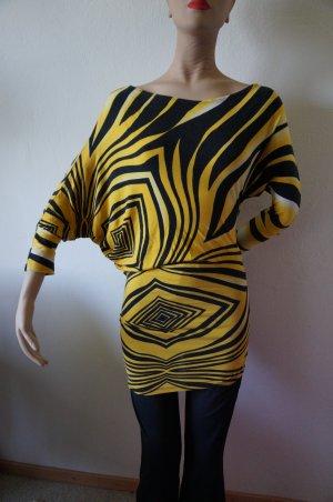 Shirt Kleid mit Raglan Ärmel Asymertisch im Schnitt 36/ 38