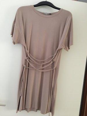 Shirt-Kleid mit Schnürung