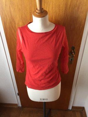 Shirt Koralle Netz rot 38