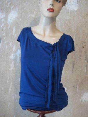 Shirt Kurzarm in kräftigem Blau von H&M - casual Look