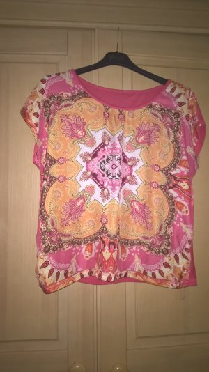 Shirt Kurzarm indisch orientalisch Mandala Yoga mehrfarbig