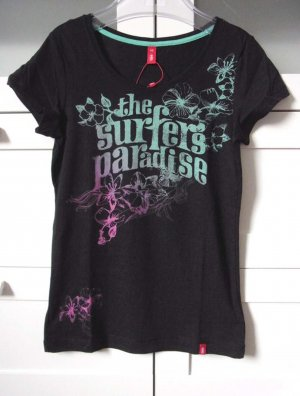 Shirt Kurzarm mit Frontprint Surfers Paradies Gr. XS
