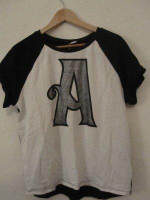 Shirt/Kurzarmpulli von Divided H+M mit großem A vorne Größe M