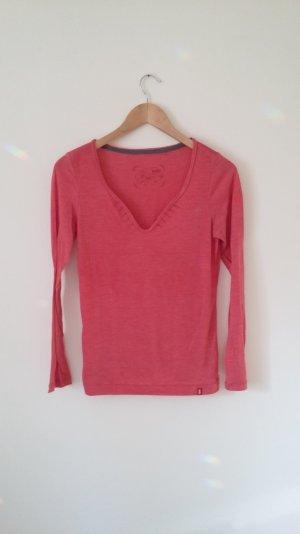 Shirt, lachsrot/rosa, lange Arme, edc Esprit, Gr.M