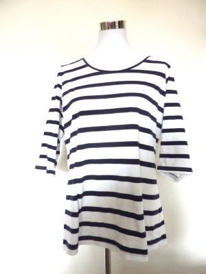 Shirt Langarm blau weiss gestreift Streifen Shirt marine 44 46
