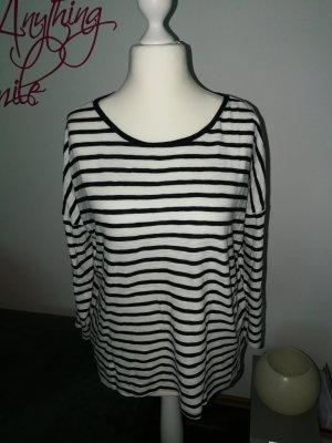 Shirt Langarm dunkelblau weiß gestreift der Marke Only in der Größe L