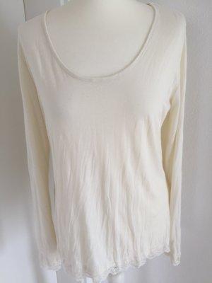 Shirt langarm elfenbeinfarben Größe M made in Italy