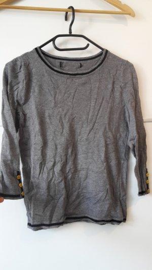 Shirt langarm grau gold schwarz elegant