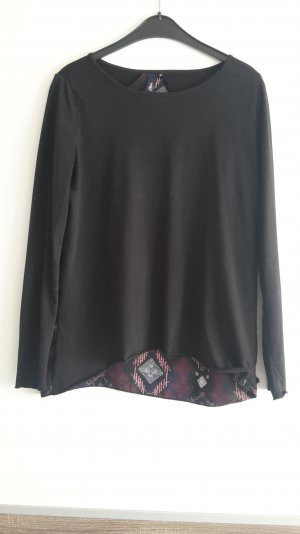 Shirt langarm in schwarz