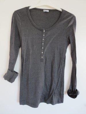 Shirt Langarm Nachtwäsche Relax grau 36 Baumwolle