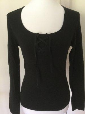 Shirt Langarm von Ambiente mit Schnürung, Größe S