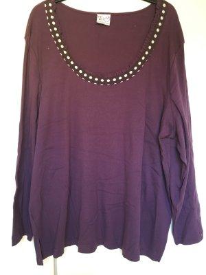Shirt Langarmshirt *Gr. 52/54* Lila