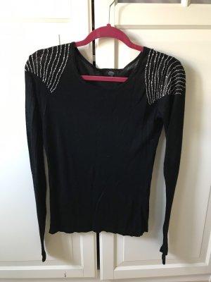 Shirt Langarmshirt Gr M schwarz Ann Christine