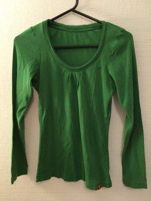 Shirt Langarmshirt Longsleeve Basic grün Rundhals Esprit