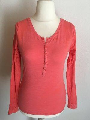 Shirt Langarmshirt Longsleeve Basic hellrot Gr. S