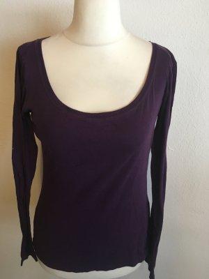 Shirt Langarmshirt Longsleeve Basic lila Gr. 38