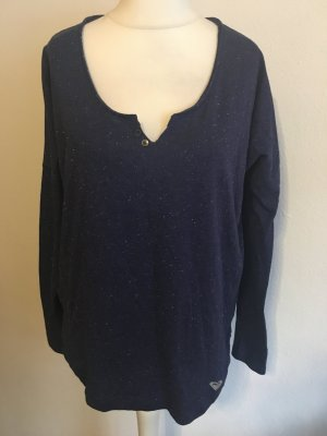 Shirt Langarmshirt Longsleeve locker blau meliert Roxy Gr. L NEU