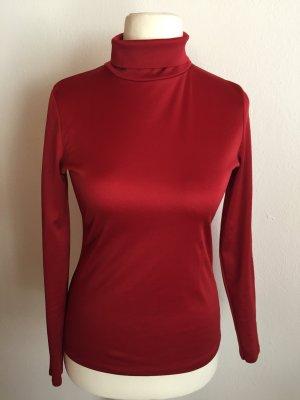 C&A Turtleneck Shirt dark red-neon red