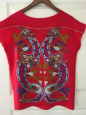 Camicia fantasia rosso