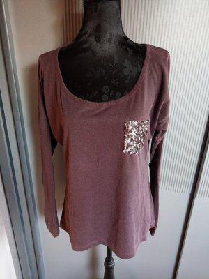 Shirt lila Zabaione Neu Pailletten