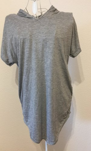 Shirt Longshirt mit Kapuze Kapuzenshirt *Gr. S* Grau