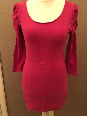 Shirt Longshirt Shirtkleid pink 3/4 Ärmel TOP