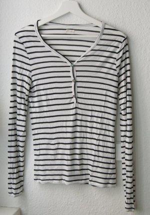 Shirt Longsleeve Gestreift French Chic Fair XS 34 36