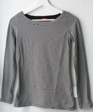 Long Shirt black-white cotton
