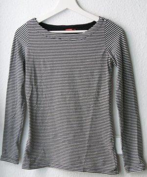 Lang shirt zwart-wit Katoen