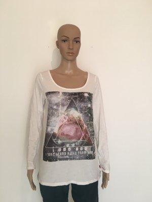 Shirt longsleeve langarm langärmelig langarmshirt Baumwolle Druck Print All Space Universum Pyramide qs galaxy