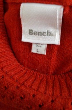 Bench Jersey de cuello redondo rojo Algodón