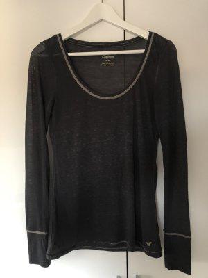 Shirt Longsleeve Sweater Top schwarz/grau von American Eagle