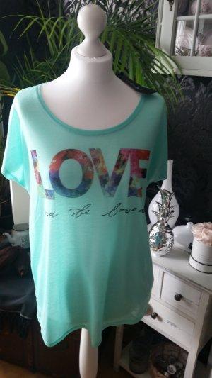 Shirt Love Mintgrün ♡