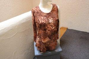 #Shirt m. Leoprint, Gr. 38, #braun, #Kenny S., #NEU, 3/4 Arm