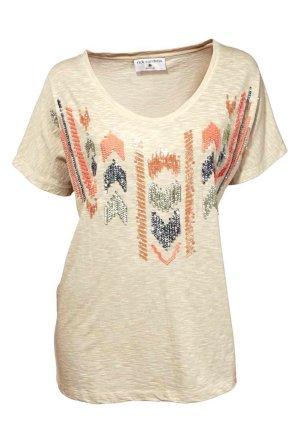 Shirt m. Pailletten, sand von Rick Cardona Heine  Gr. 38