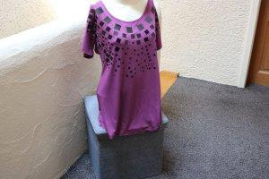 #Shirt m. Viereck-Pailletten, Gr. 40, #beere, #Heine